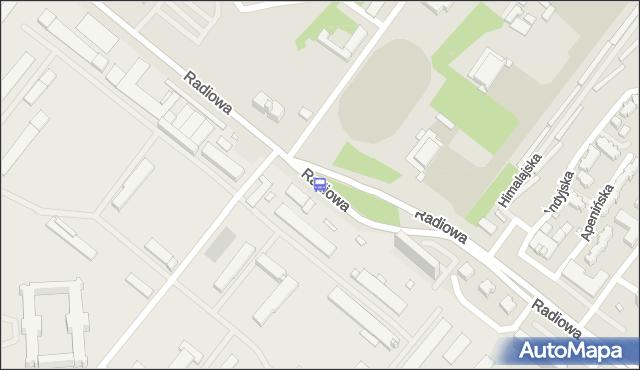 Przystanek Radiowa-WAT 01. ZTM Warszawa - Warszawa (id 511001) na mapie Targeo