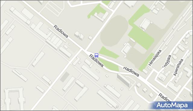 Przystanek Radiowa-WAT 02. ZTM Warszawa - Warszawa (id 511002) na mapie Targeo