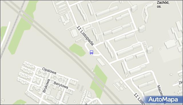 Przystanek Radogoszcz Zachód. MPKLodz - Łódź (id 459) na mapie Targeo