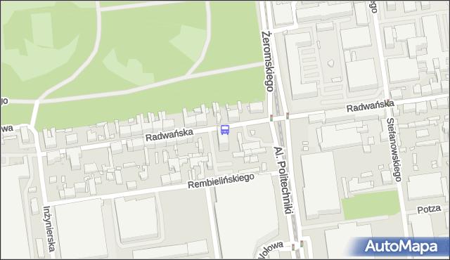 Przystanek Radwańska - Politechniki (kampus PŁ). MPKLodz - Łódź (id 927) na mapie Targeo
