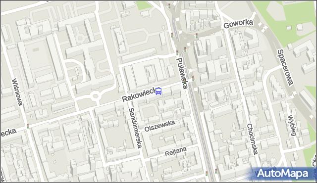 Przystanek Rakowiecka 03. ZTM Warszawa - Warszawa (id 300203) na mapie Targeo