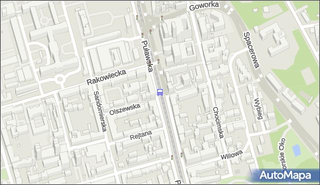 Przystanek Rakowiecka 05. ZTM Warszawa - Warszawa (id 300205) na mapie Targeo