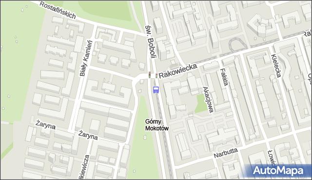 Przystanek Rakowiecka-Sanktuarium 04. ZTM Warszawa - Warszawa (id 328604) na mapie Targeo