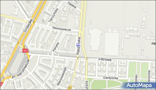 Przystanek Raszyńska 01. ZTM Warszawa - Warszawa (id 402801) na mapie Targeo