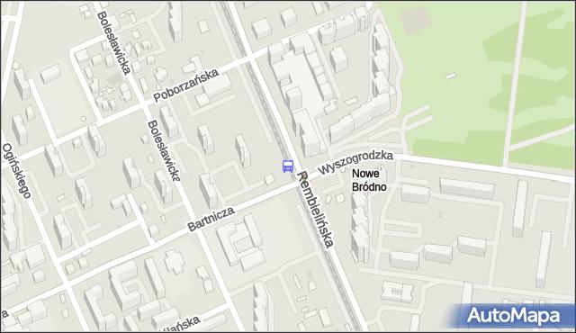 Przystanek Rembielińska 03. ZTM Warszawa - Warszawa (id 108303) na mapie Targeo