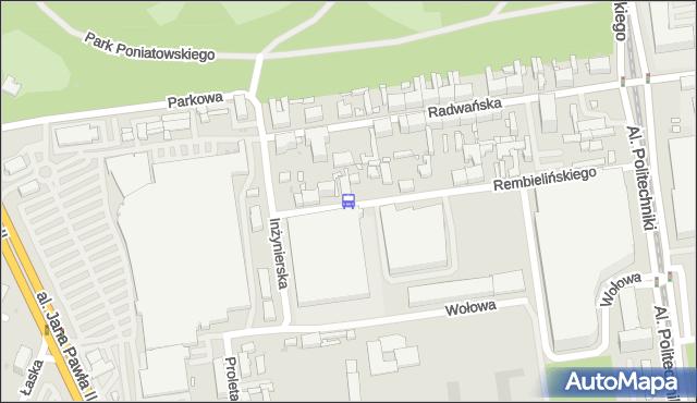 Przystanek Rembielińskiego - Inżynierska NŻ. MPKLodz - Łódź (id 944) na mapie Targeo