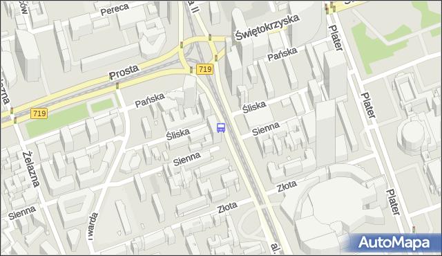 Przystanek rondo ONZ 01. ZTM Warszawa - Warszawa (id 708801) na mapie Targeo