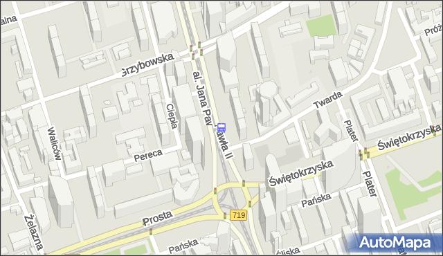 Przystanek rondo ONZ 02. ZTM Warszawa - Warszawa (id 708802) na mapie Targeo