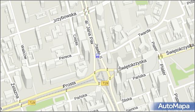 Przystanek rondo ONZ 04. ZTM Warszawa - Warszawa (id 708804) na mapie Targeo