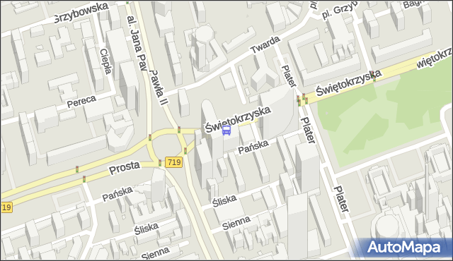 Przystanek rondo ONZ 05. ZTM Warszawa - Warszawa (id 708805) na mapie Targeo