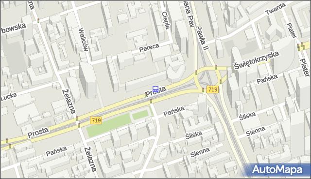 Przystanek rondo ONZ 06. ZTM Warszawa - Warszawa (id 708806) na mapie Targeo