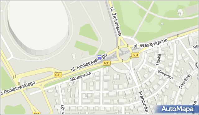 Przystanek rondo Waszyngtona 01. ZTM Warszawa - Warszawa (id 213101) na mapie Targeo