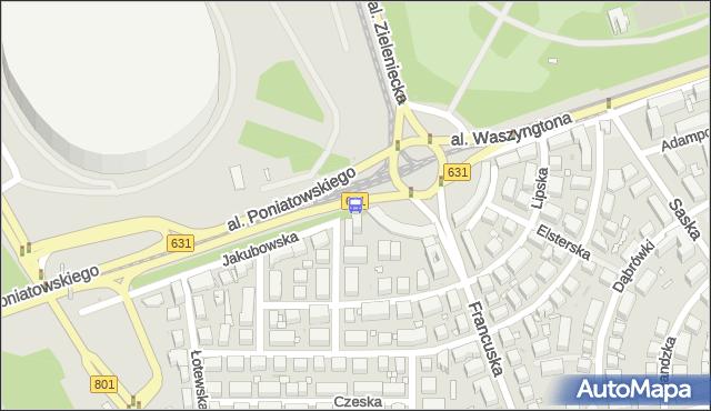 Przystanek rondo Waszyngtona 02. ZTM Warszawa - Warszawa (id 213102) na mapie Targeo