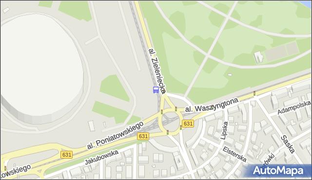 Przystanek rondo Waszyngtona 09. ZTM Warszawa - Warszawa (id 213109) na mapie Targeo