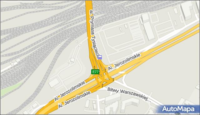 Przystanek rondo Zesłańców Syberyjskich 06. ZTM Warszawa - Warszawa (id 404506) na mapie Targeo