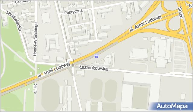 Przystanek Rozbrat 01. ZTM Warszawa - Warszawa (id 707101) na mapie Targeo