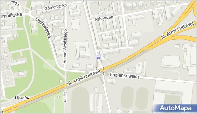 Przystanek Rozbrat 04. ZTM Warszawa - Warszawa (id 707104) na mapie Targeo
