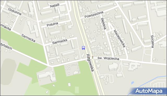Przystanek Rzgowska - św. Wojciecha. MPKLodz - Łódź (id 1031) na mapie Targeo