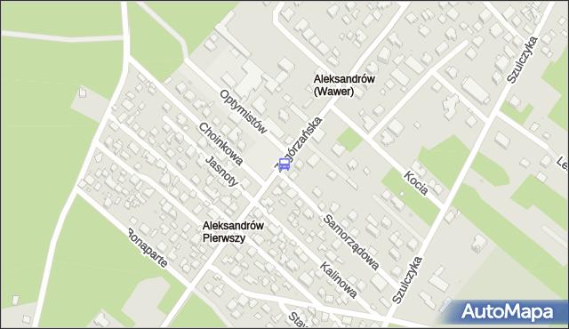 Przystanek Samorządowa 01. ZTM Warszawa - Warszawa (id 237701) na mapie Targeo