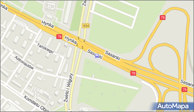 Przystanek Sasanki 03. ZTM Warszawa - Warszawa (id 403703) na mapie Targeo