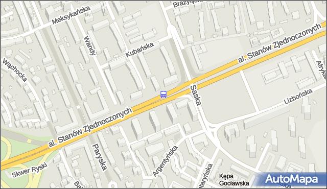 Przystanek Saska 01. ZTM Warszawa - Warszawa (id 209701) na mapie Targeo