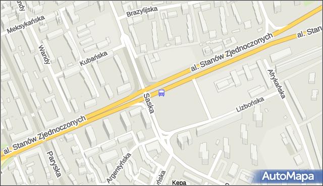 Przystanek Saska 02. ZTM Warszawa - Warszawa (id 209702) na mapie Targeo