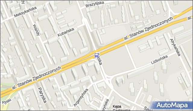 Przystanek Saska 03. ZTM Warszawa - Warszawa (id 209703) na mapie Targeo