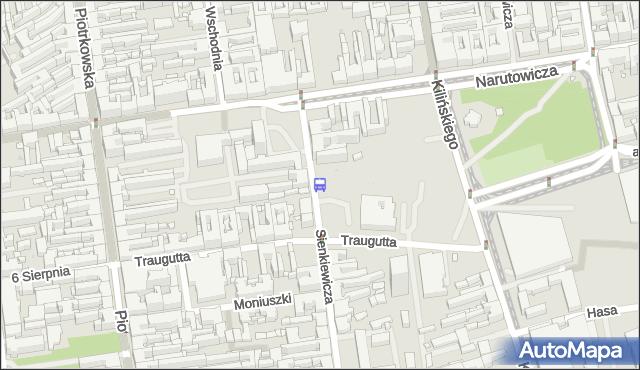 Przystanek Sienkiewicza - Narutowicza. MPKLodz - Łódź (id 1047) na mapie Targeo