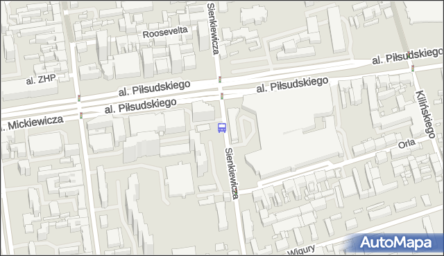Przystanek Sienkiewicza - Piłsudskiego. MPKLodz - Łódź (id 1048) na mapie Targeo