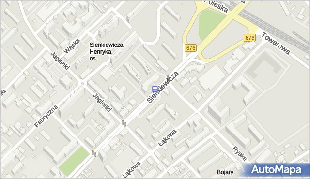 Przystanek SIENKIEWICZA/RYSKA. BKM - Białystok (id 420) na mapie Targeo
