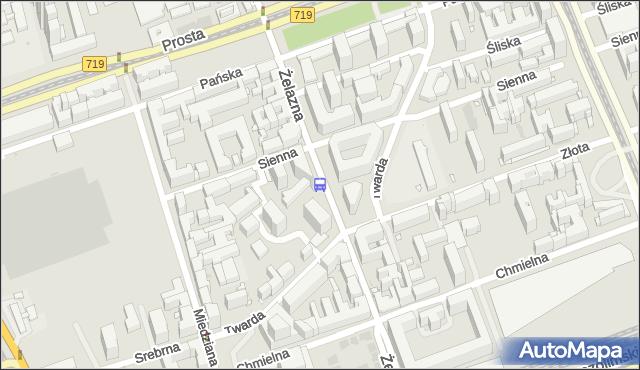 Przystanek Sienna 01. ZTM Warszawa - Warszawa (id 508801) na mapie Targeo
