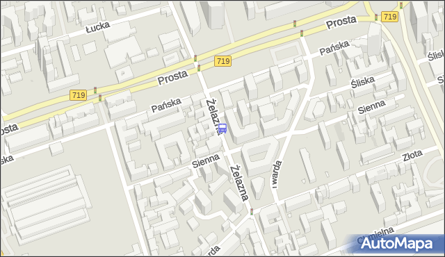 Przystanek Sienna 02. ZTM Warszawa - Warszawa (id 508802) na mapie Targeo