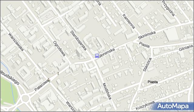 Przystanek SŁONIMSKA/URZĄD MIEJ. BKM - Białystok (id 254) na mapie Targeo