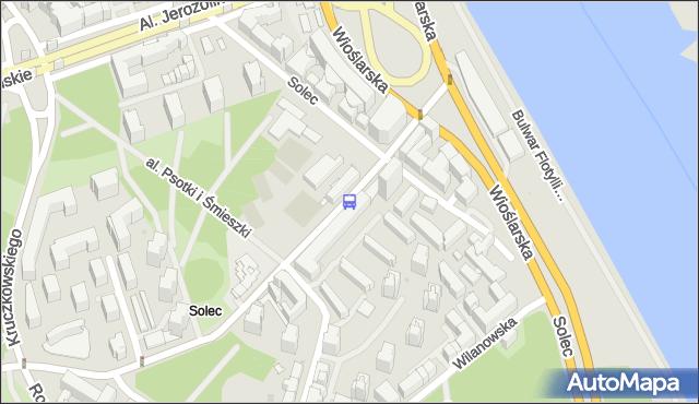 Przystanek Solec 01. ZTM Warszawa - Warszawa (id 706501) na mapie Targeo
