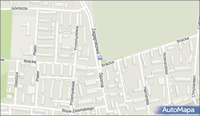 Przystanek Sporna - Bracka. MPKLodz - Łódź (id 1070) na mapie Targeo