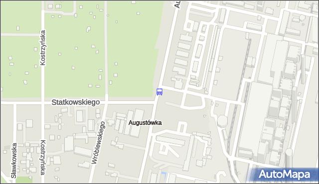 Przystanek Statkowskiego 01. ZTM Warszawa - Warszawa (id 308001) na mapie Targeo
