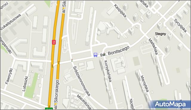 Przystanek Stegny 02. ZTM Warszawa - Warszawa (id 309402) na mapie Targeo