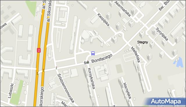 Przystanek Stegny 03. ZTM Warszawa - Warszawa (id 309403) na mapie Targeo