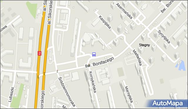 Przystanek Stegny 05. ZTM Warszawa - Warszawa (id 309405) na mapie Targeo