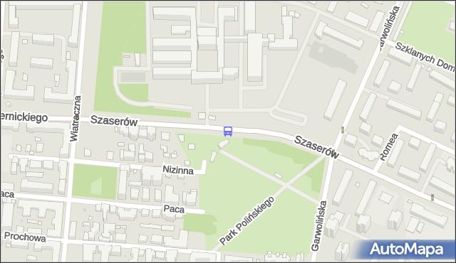 Przystanek Szaserów-Szpital 02. ZTM Warszawa - Warszawa (id 211202) na mapie Targeo