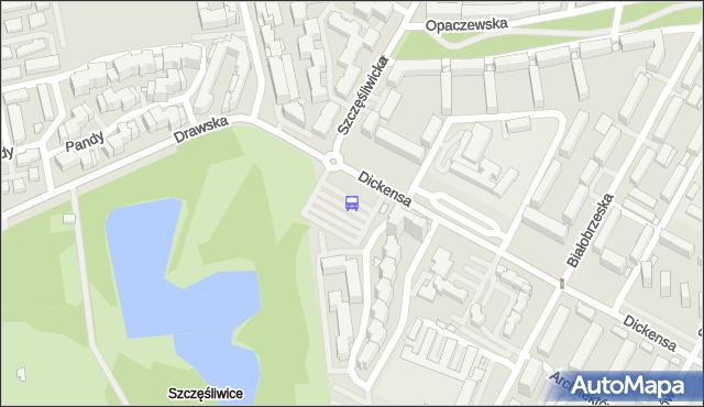 Przystanek Szczęśliwice 01. ZTM Warszawa - Warszawa (id 411901) na mapie Targeo