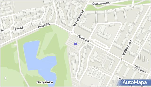 Przystanek Szczęśliwice 02. ZTM Warszawa - Warszawa (id 411902) na mapie Targeo