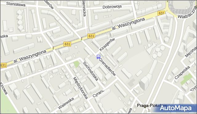 Przystanek Szpital Grochowski 01. ZTM Warszawa - Warszawa (id 212901) na mapie Targeo