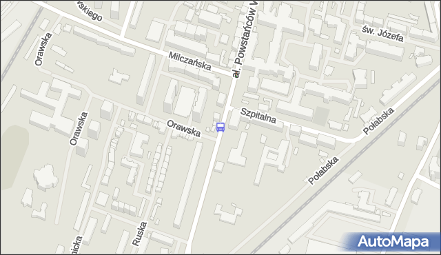 Przystanek Szpitalna 11. ZDiTM Szczecin - Szczecin (id 21411) na mapie Targeo