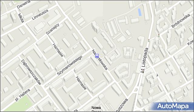 Przystanek Szymanowskiego 01. ZTM Warszawa - Warszawa (id 129201) na mapie Targeo