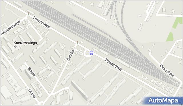 Przystanek Towarowa/Dw.Fabryczny. BKM - Białystok (id 488) na mapie Targeo