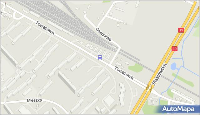 Przystanek TOWAROWA/GARAŻE. BKM - Białystok (id 490) na mapie Targeo