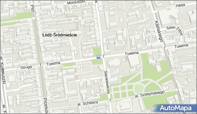 Przystanek Tuwima - Sienkiewicza. MPKLodz - Łódź (id 1228) na mapie Targeo