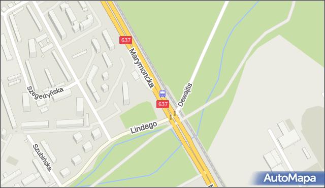 Przystanek UKSW 02. ZTM Warszawa - Warszawa (id 601102) na mapie Targeo