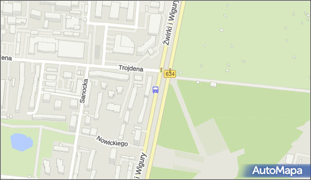 Przystanek Uniwersytet Medyczny 01. ZTM Warszawa - Warszawa (id 403101) na mapie Targeo